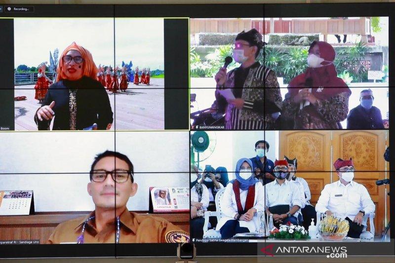 Menparekraf nilai Banyuwangi contoh sukses kawinkan pariwisata-ekonomi kreatif plus UMKM