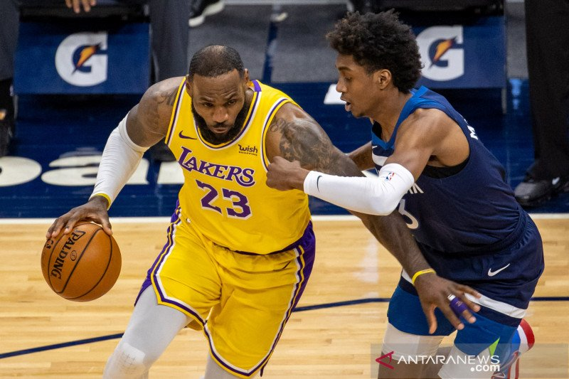 LeBron James pimpin Lakers atasi  Timberwolves