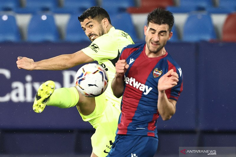 Atletico hanya raih satu poin dari lawatan ke markas Levante