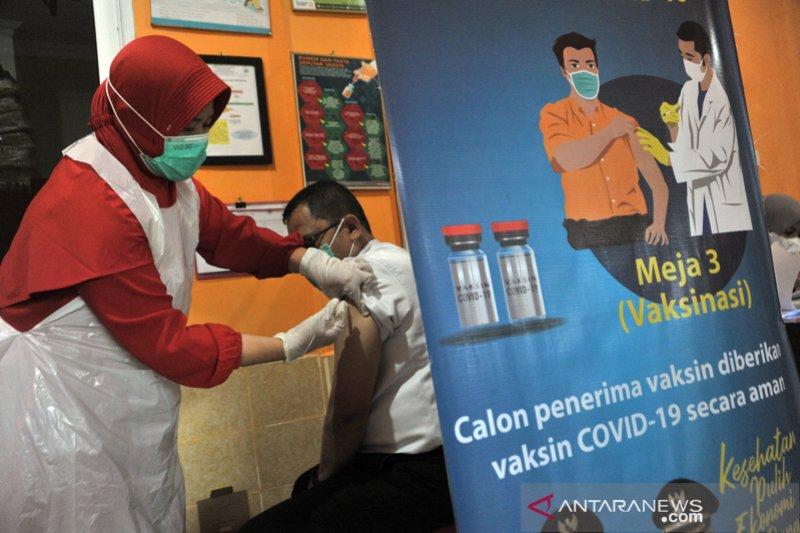 Capaian vaksin Covid-19 tahap 1 di Sumsel