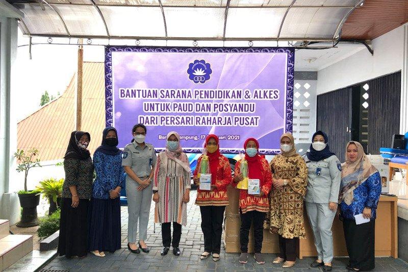 Jasa Raharja Lampung serahkan bantuan kepada Paud dan Posyandu