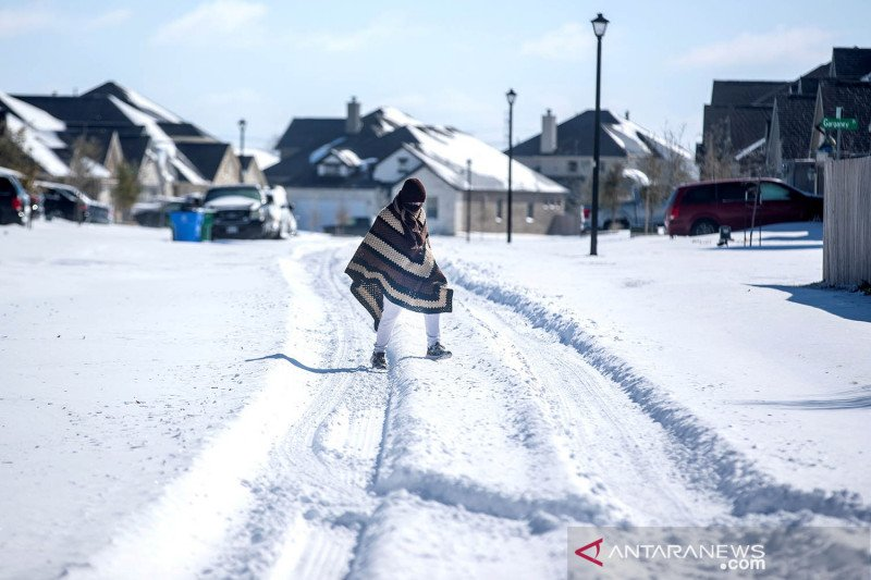Warga Texas berjuang di tengah cuaca dingin yang bersejarah