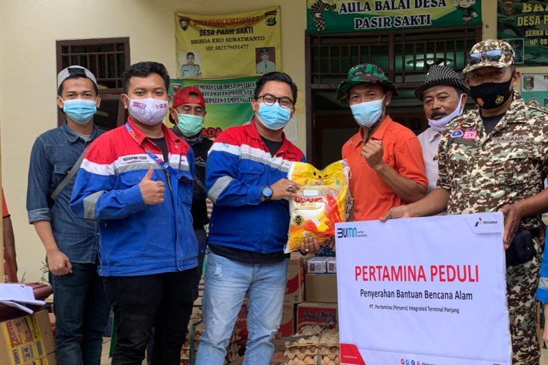 Pertamina salurkan bantuan sembako kepada korban angin puting beliung Lampung