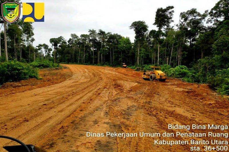 Jalan Muara Teweh - Palangka Raya dilakukan pemeliharaan