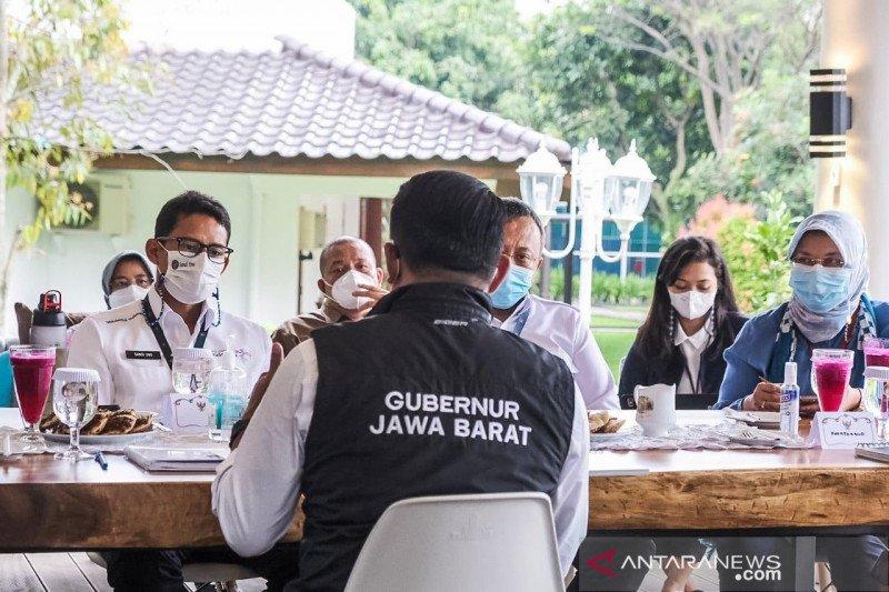 Sandiaga bertemu Ridwan Kamil bahas KEK Lido Bogor