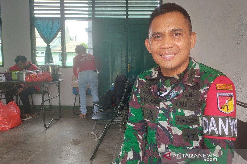 Yonif 711/Raksatama kerahkan puluhan personel dukung donor darah di Palu