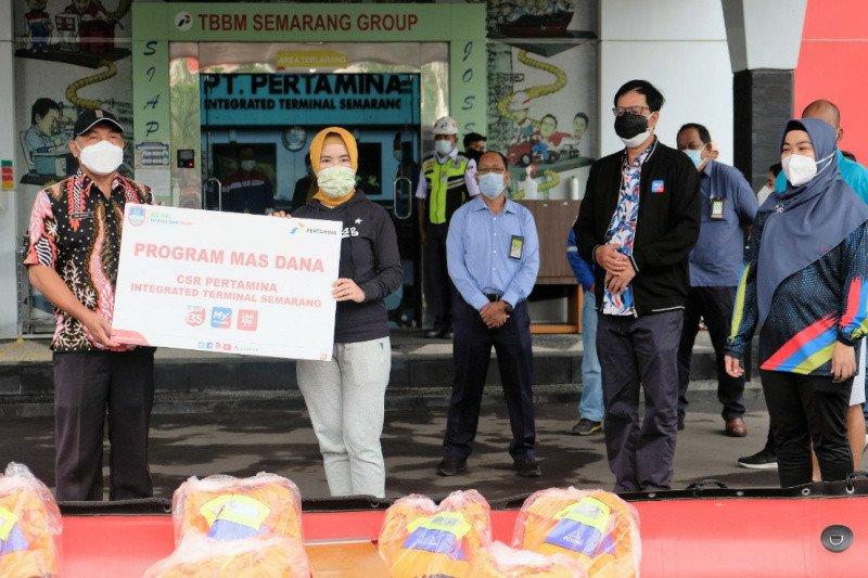 Dirut Pertamina serahkan bantuan CSR Masyarakat Sadar Bencana (MasDana) di Semarang