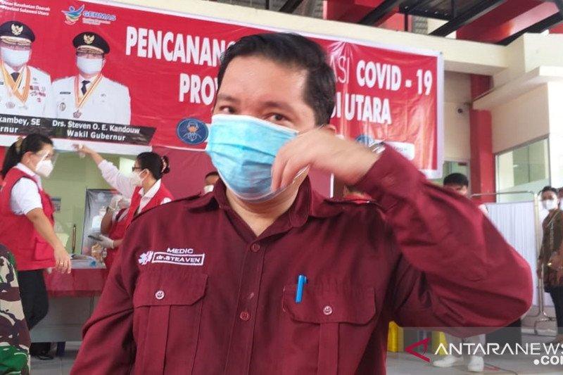 Vaksinasi COVID-19 dosis pertama di Sulut melebihi 100 persen