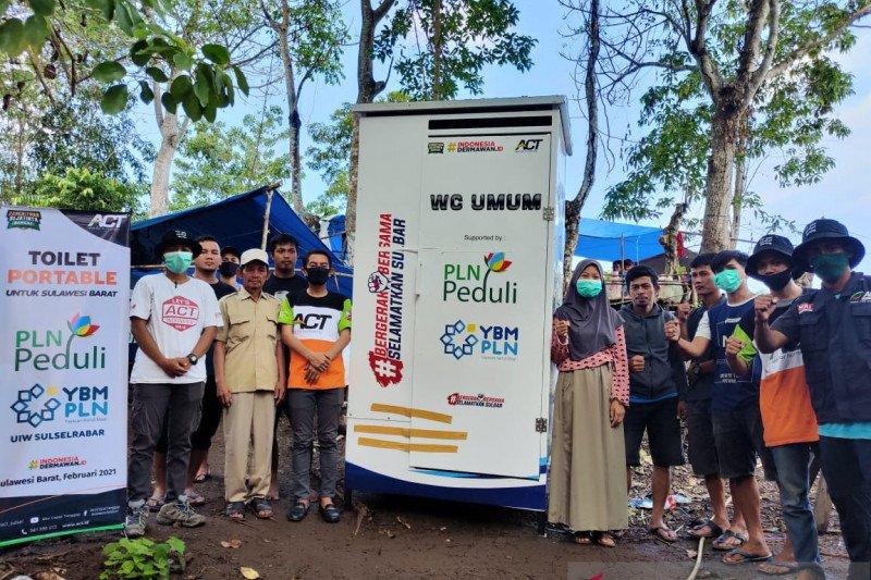 PLN salurkan 10 toilet portable untuk pengungsi Sulbar