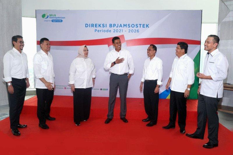 Resmi dilantik, direksi BPJAMSOSTEK periode 2021-2026 optimistis perlindungan Jamsos menyeluruh
