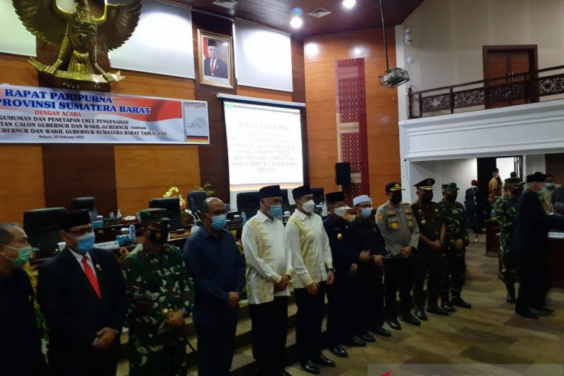 DPRD Sumbar usulkan penetapan Gubernur dan Wagub hasil Pilgub 2020