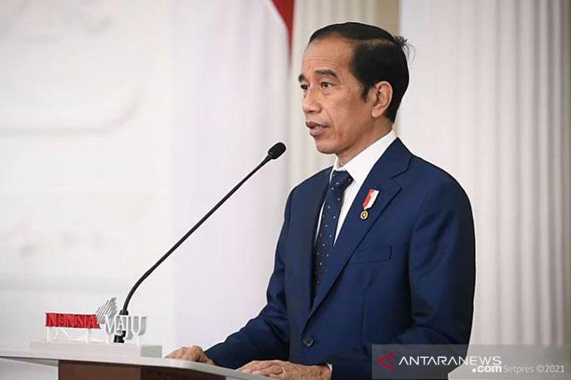 Jokowi sampaikan Indonesia beruntung sejak awal sudah bergerak dapatkan vaksin