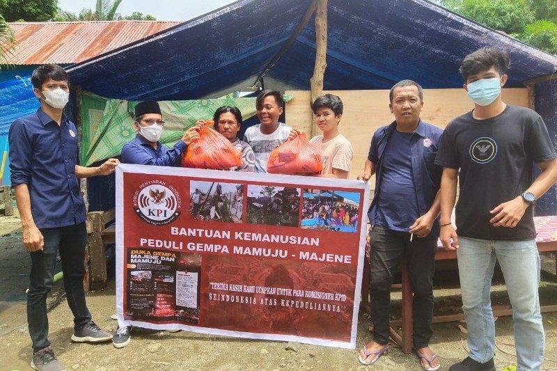 KPID Sulbar bantu pengungsi Tapalang Barat Mamuju