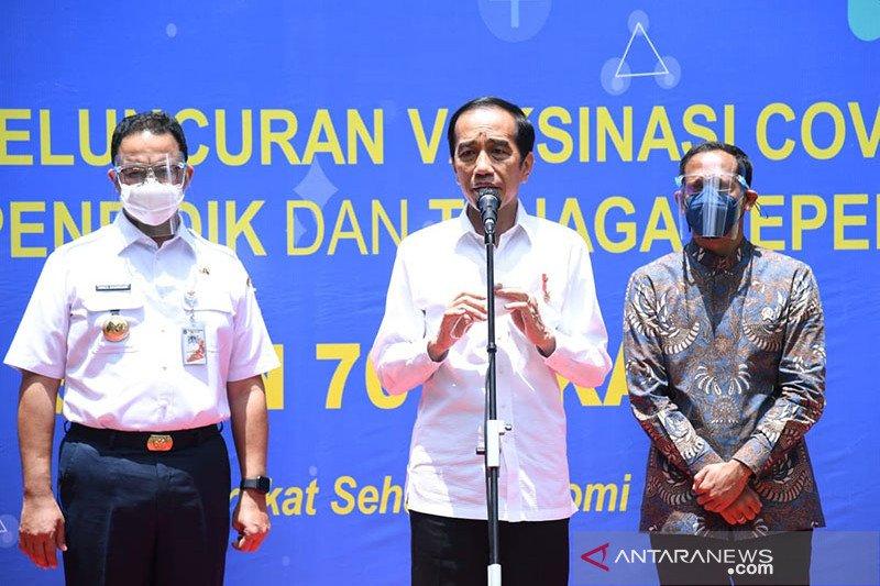 Jokowi: Pandemi COVID-19 bisa dimanfaatkan koreksi total pendidikan