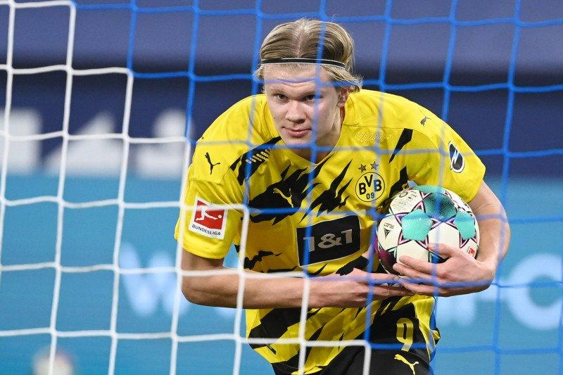 Solskjaer akui terus jalin kontak dengan Erling Haaland dari Dortmund