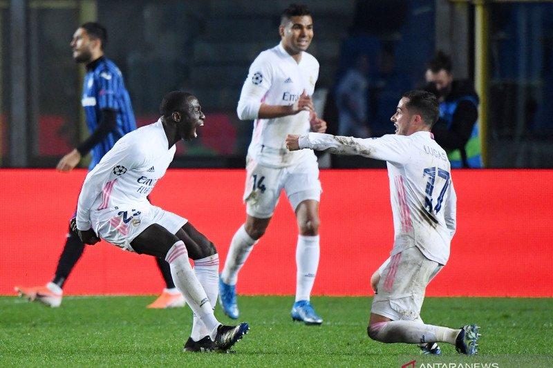 Gol tunggal Mendy amankan kemenangan 1-0 Real di markas tuan rumah Atalanta