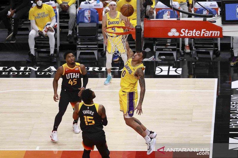 Mitchell cedera, Utah Jazz bertekuk lutut di hadapan Lakers