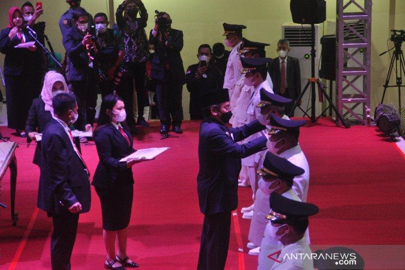 Gubernur Sulteng  minta bupati-wali kota baru sukseskan vaksinasi