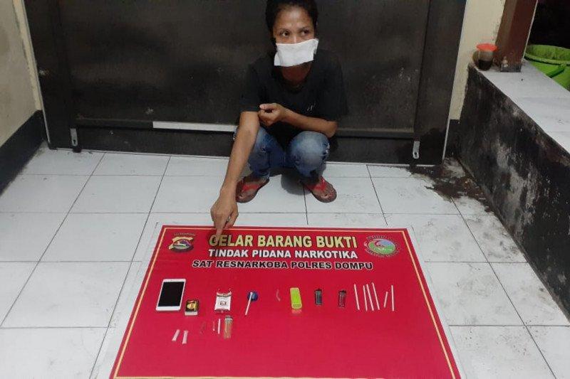 Apes, hendak transaksi narkoba di pertokoan, wanita ini ditangkap polisi