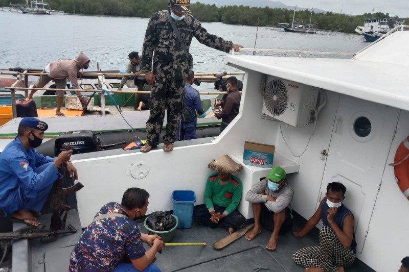 Patroli gabungan amankan empat nelayan  di Sikka