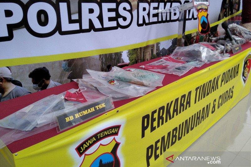 Tersangka pembunuh satu keluarga di Rembang ditahan