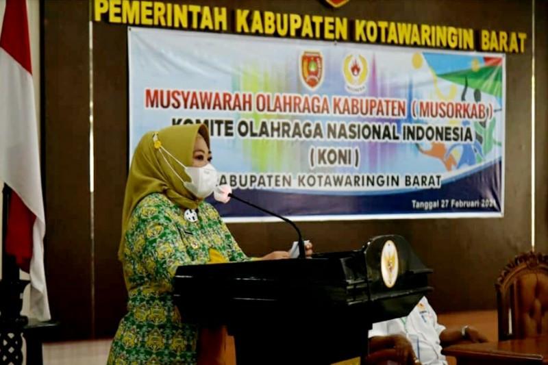 Nurhidayah terpilih sebagai Ketua KONI Kobar 2021-2025