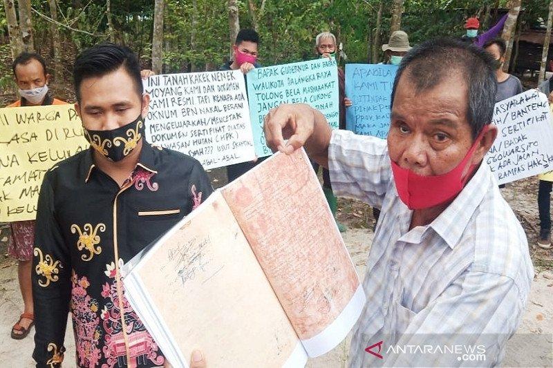 Puluhan warga Palangka Raya resah tanah mereka diklaim orang