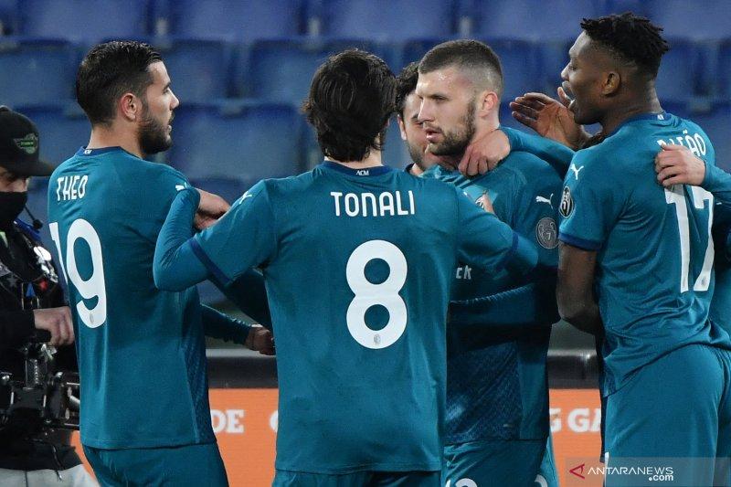 Gol Ante Rebic amankan kemenangan 2-1 Milan atas Roma