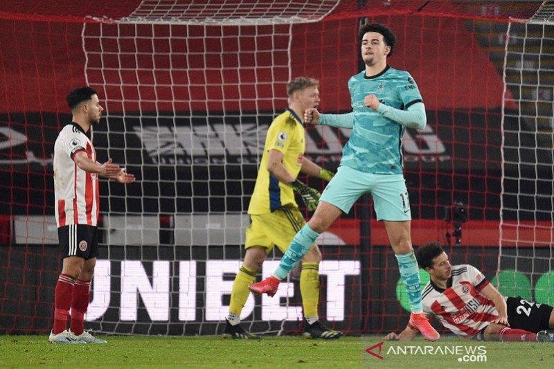 Liverpool akhirnya menang lagi 2-0 setelah tundukkan juru kunci Sheffield