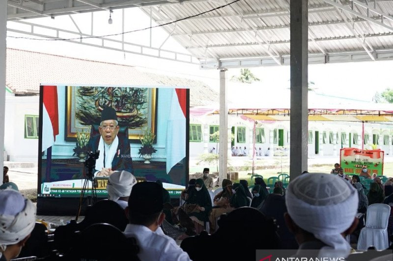 Wapres Ma'ruf Amin apresiasi dedikasi Nahdlatul Wathan bangun negeri