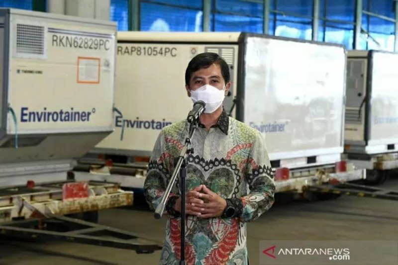 10 juta dosis bahan baku vaksin Sinovac kembali tiba di Indonesia