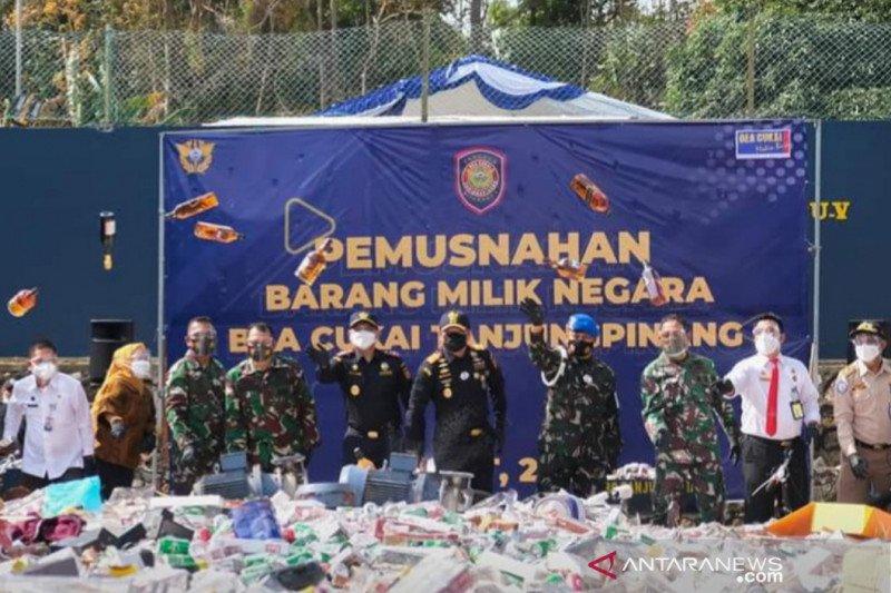 Bea Cukai Tanjungpinang musnahkan BMN Rp3,5 miliar