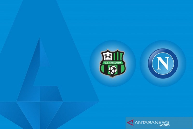Napoli berbagi poin dengan Sassuolo setelah lakoni drama enam gol