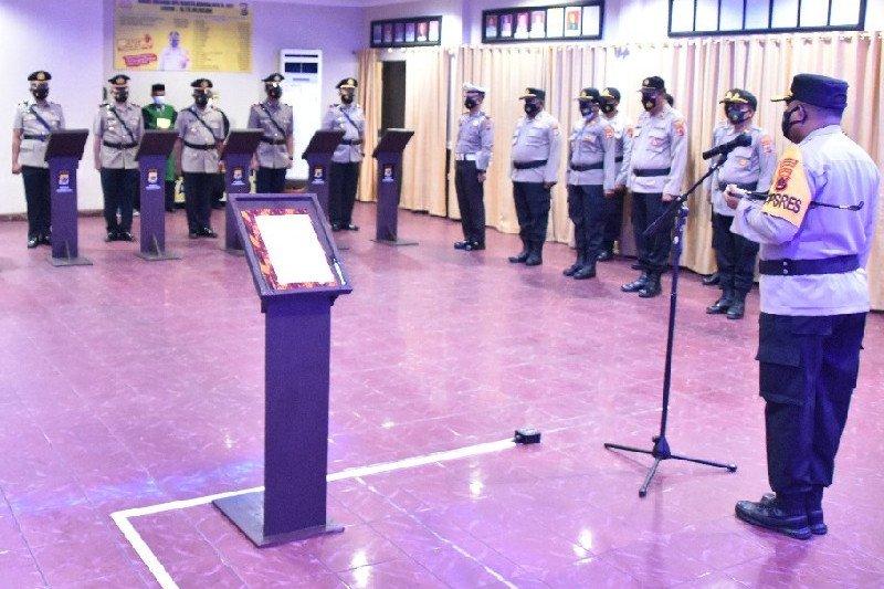 Kapolresta Jayapura Kota pimpin sertijab empat pejabat