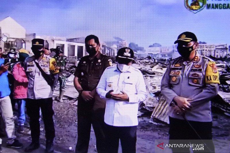 Bupati minta Kepolisian usut kebakaran pasar Lembor