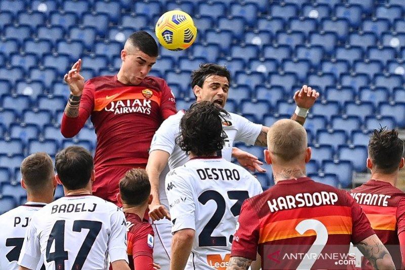 Gol tunggal Gianluca Mancini bawa AS Roma kalahkan Genoa