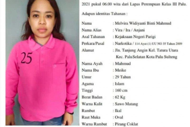 Seorang tahanan wanita kasus narkoba kabur dari Lapas Perempuan Palu