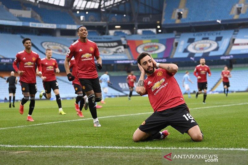 MU miliki peluang juara usai kalahan City di derbi Manchester