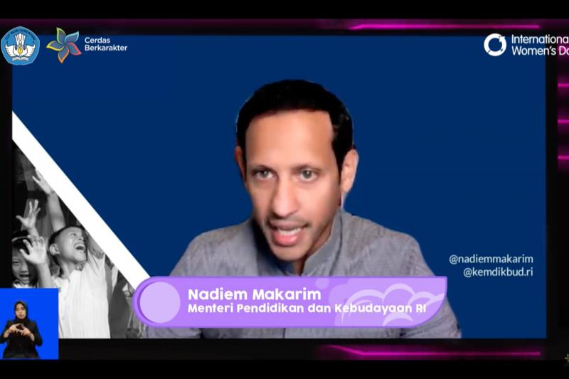 Mendikbud Nadiem Makarim : Tiga dosa besar pendidikan pengaruhi perkembangan siswi