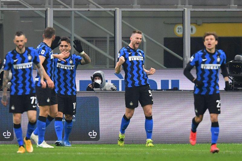Inter benamkan Atalanta 1-0, kokoh di puncak