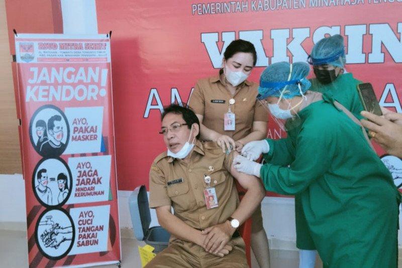 ASN awali vaksinasi COVID-19 tahap kedua di Minahasa Tenggara