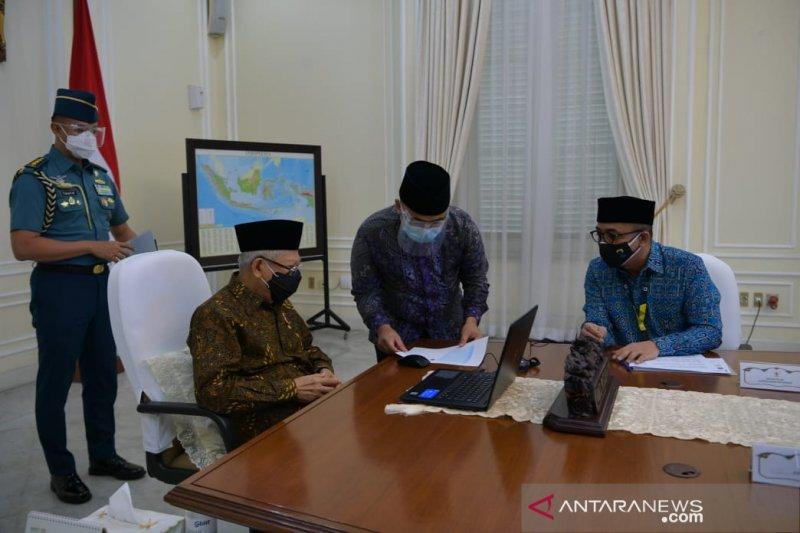 Wapres Ma'ruf Amin melaporkan SPT Pajak Tahun 2020