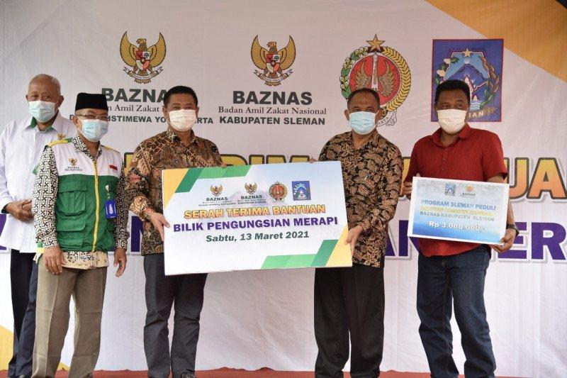 Sleman menerima bantuan 23 bilik pengungsian bencana erupsi Merapi