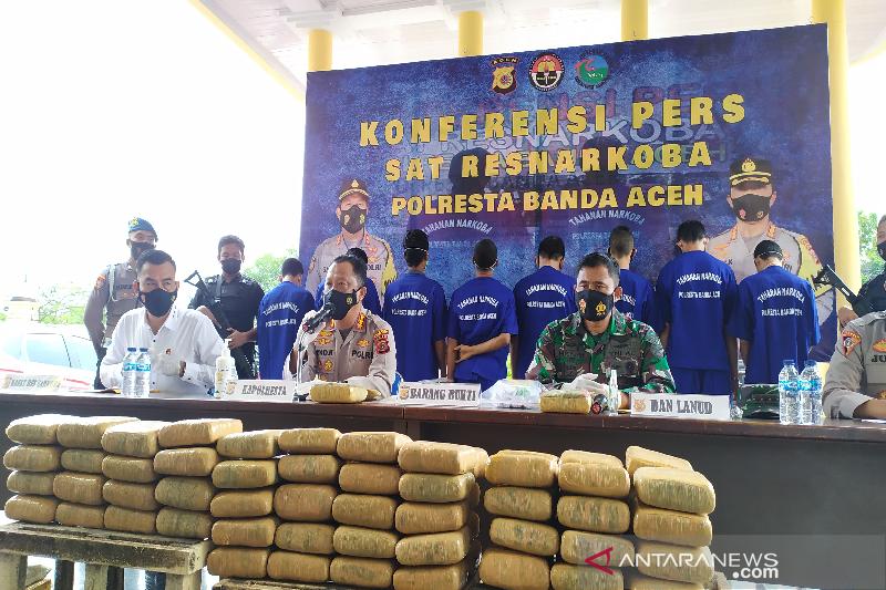 Polresta Banda Aceh Tangkap 71 Tersangka Narkotika Selama 2021 Antara News Aceh