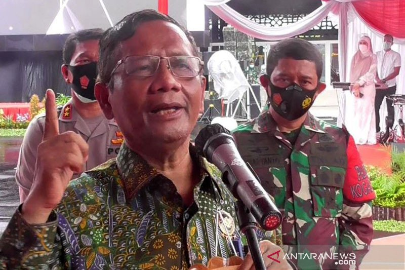 Mahfud MD: Diskresi pemerintah bukan kerumunan  usai kepulangan Rizieq
