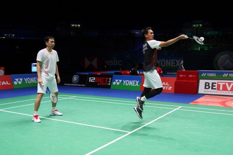 Skuat ganda putra Indonesia siap berlaga di All England