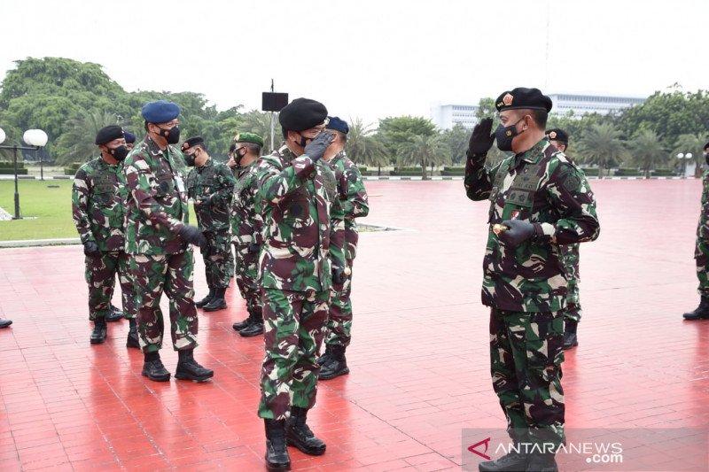 Panglima TNI terima laporan kenaikan pangkat 57 pati