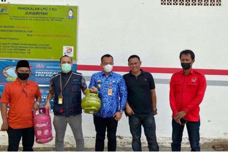 Pertamina bersama Dinas Perdagangan pantau ketersediaan elpiji di Lampung Utara