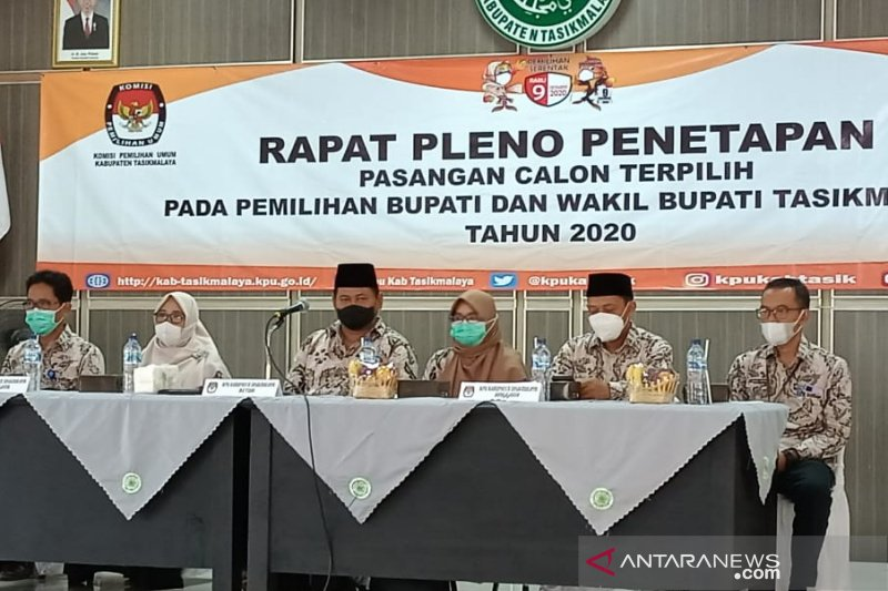 KPU Kabupaten Tasikmalaya tetapkan Ade-Cecep bupati-wakil bupati terpilih