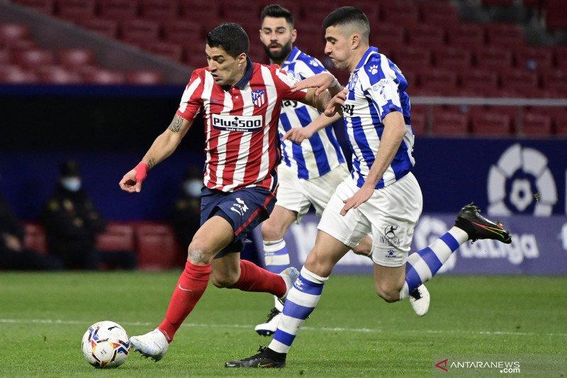 Gol Suarez antar Atletico kian kokoh di puncak klasemen Liga Spanyol